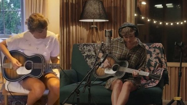 Taylor Swift using 1959 Silvertone 604 Acoustic Guitar
