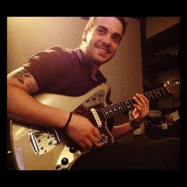 Taylor York using Fender Jaguar Electric Guitar