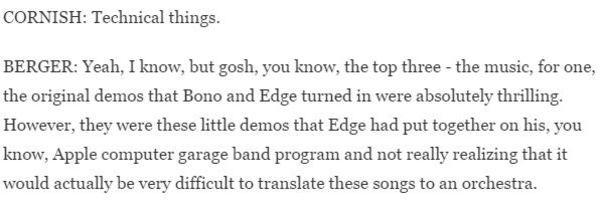 The Edge using Apple GarageBand for Mac