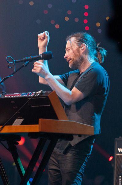 Thom Yorke using Moog Minimoog Voyager Performer Edition