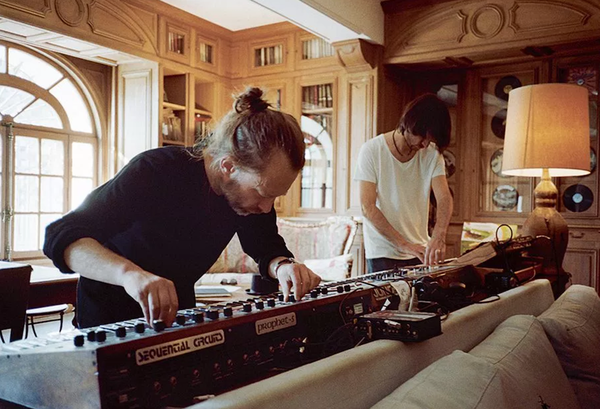 Thom Yorke using Sequential Circuits Prophet-5