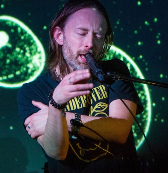Thom Yorke using Shure SM57 Dynamic Instrument Microphone