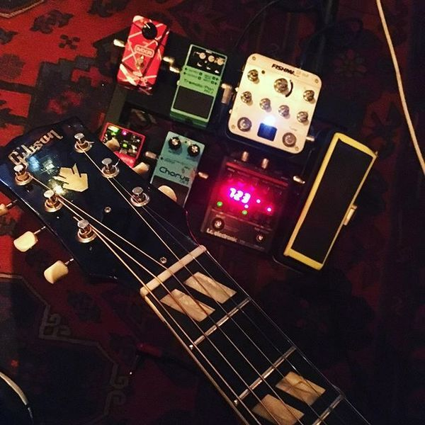 Ziv Tamari using Boss PN-2 Tremolo/Pan Guitar Effects Pedal