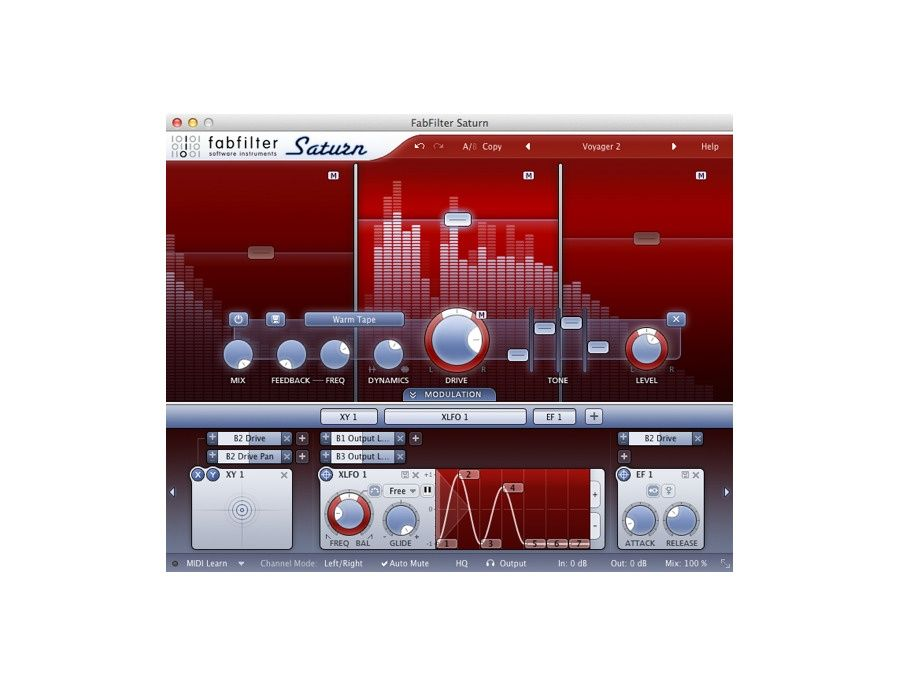 FabFilter Saturn Saturation and Distortion Plugin Picture
