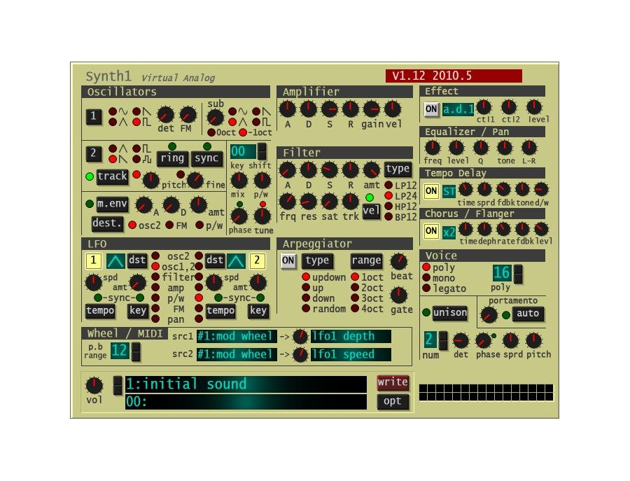 Synth1 Software Synthesizer Picture